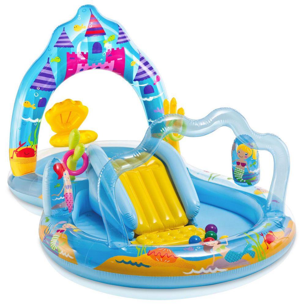 Intex 57139 Playcenter Kinder Planschbecken Pool Mermaid Kingdom Mit  Rutsche Neu 78257571390 | EBay