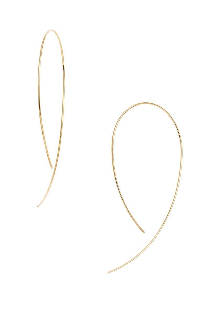 Hooked on hoopu earrings main color yellow gold jewelery