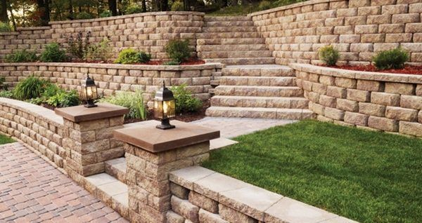 Garden Retaining Wall Design Garden Landscape Retaining Wall Design Garden Path Stone Stairs .