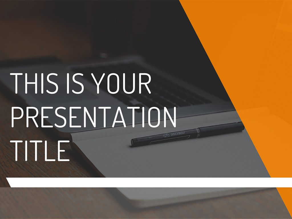 Modern and professional, this free presentation template will fit ...
