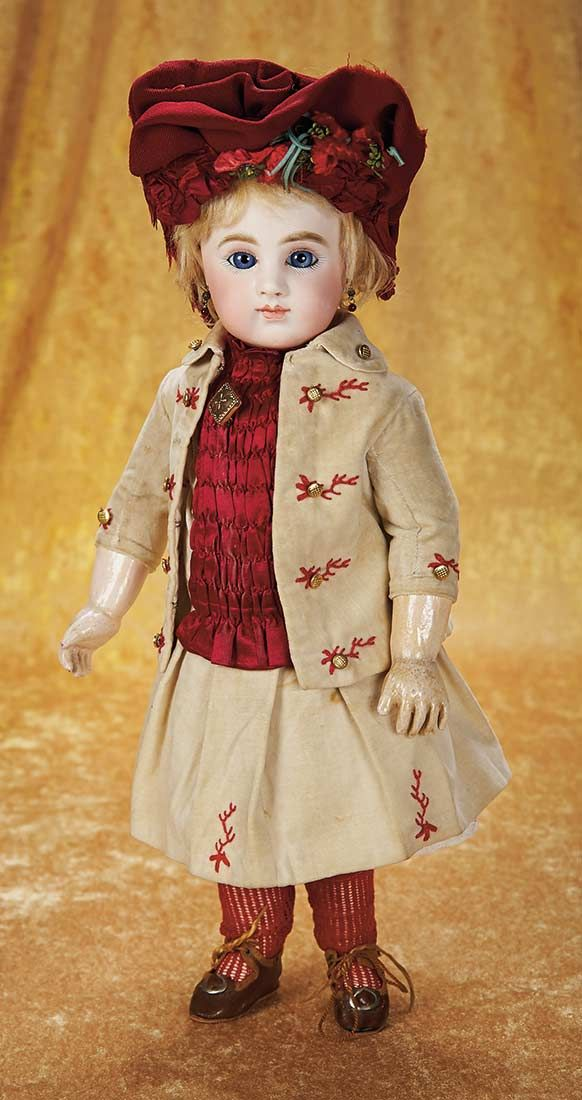 "Rare French Bisque Bebe by Joseph Joanny, 17"" (43 cm.) Theriault's Antique Doll Auctions"