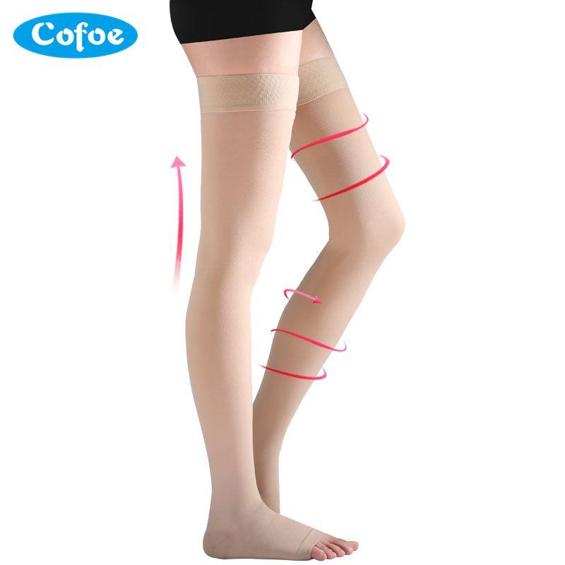 cofoe a pair compression stockings varicose veins 23-32mmhg