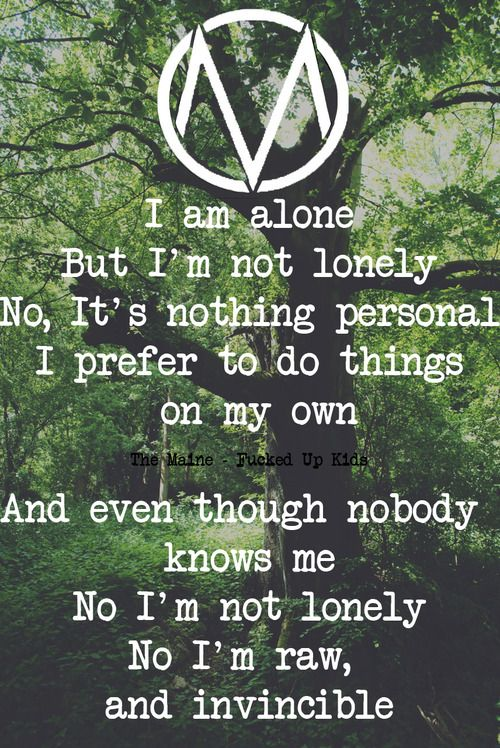 the maine quotes from songs