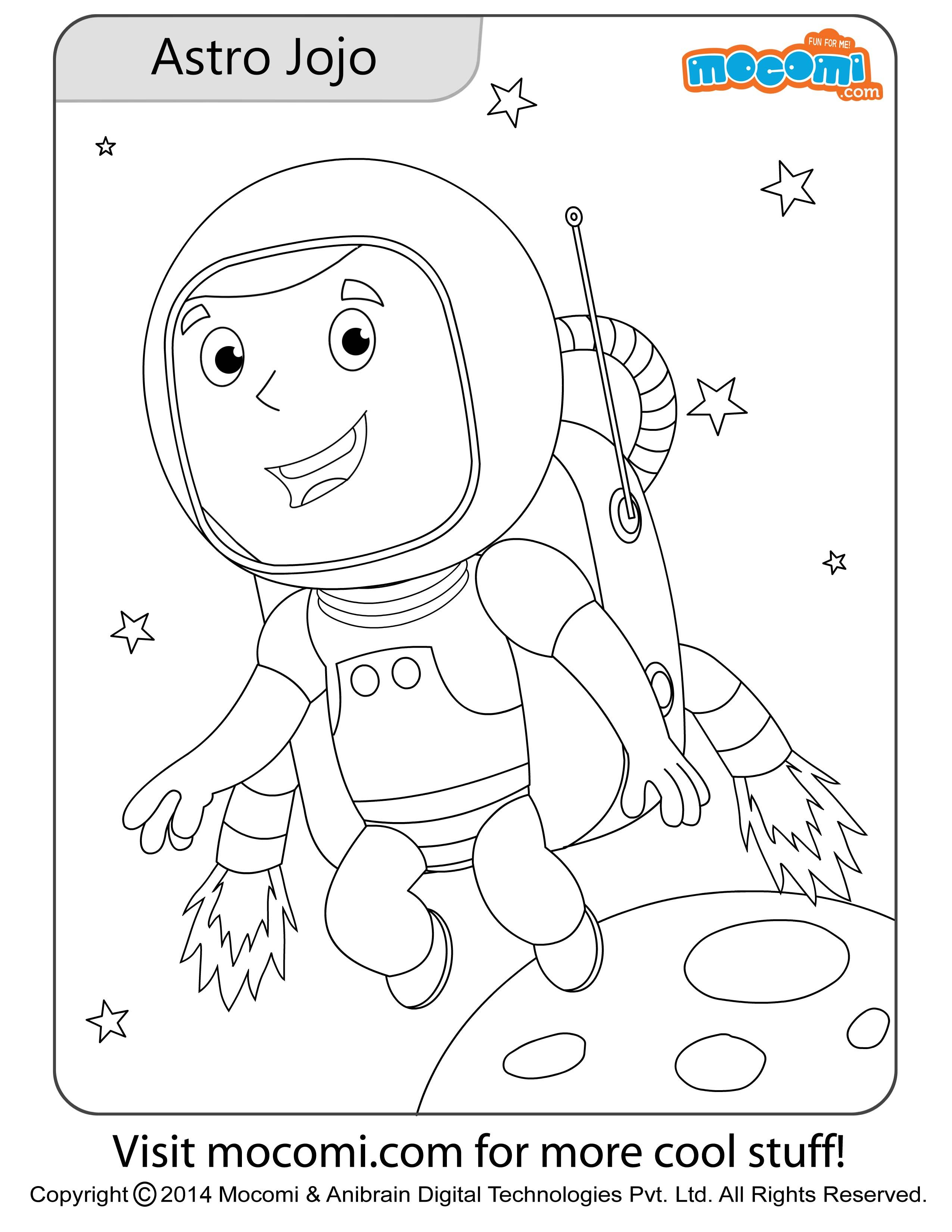 astronaut jojo online jojo colouring page for kids free printable coloring pages for a variety of themes that you can print out and color at home