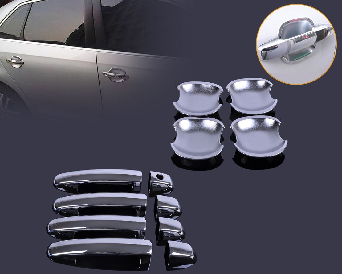 Dwcx Car Styling Chrome Door Handle Cover Cup Bowl Trim For Suzuki Swift Grand Vitara 2005 2006 2007 2008 2009 20 Chrome Door Handles Grand Vitara New Chrome