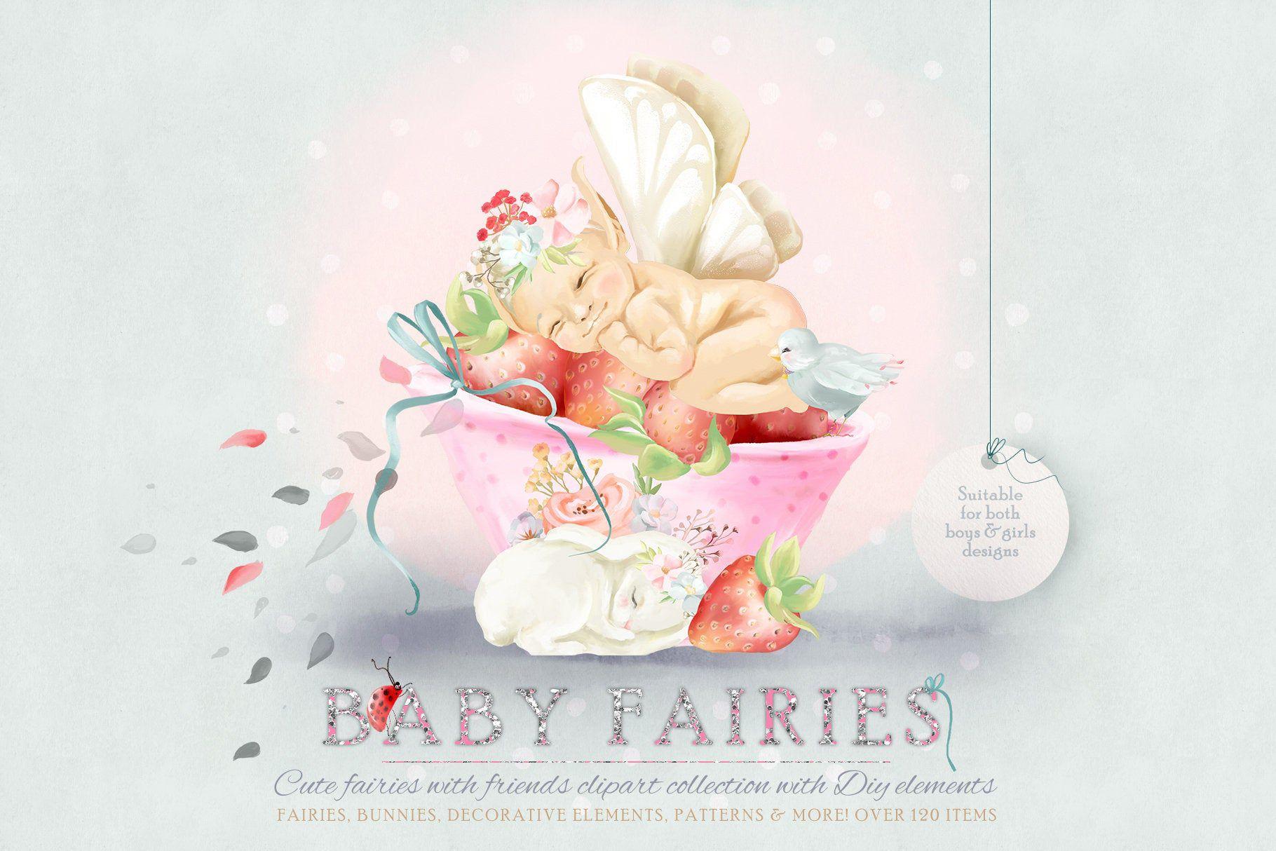 Baby Fairies Digital Clipart