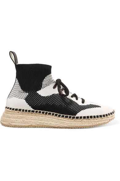 6b8c0cfa2 Alexander Wang | Dakota stretch-knit espadrille sneakers | NET-A-PORTER.COM