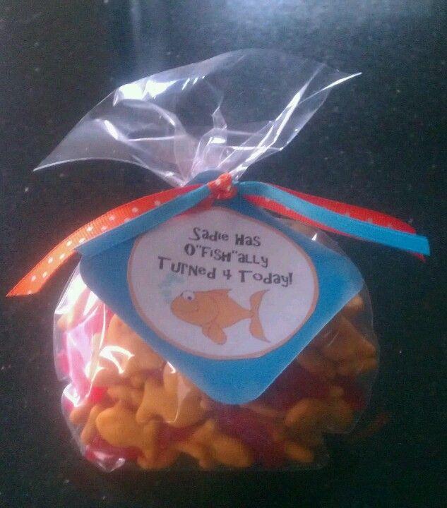 Classroom Birthday Treat With Goldfish And Swedish Fish
