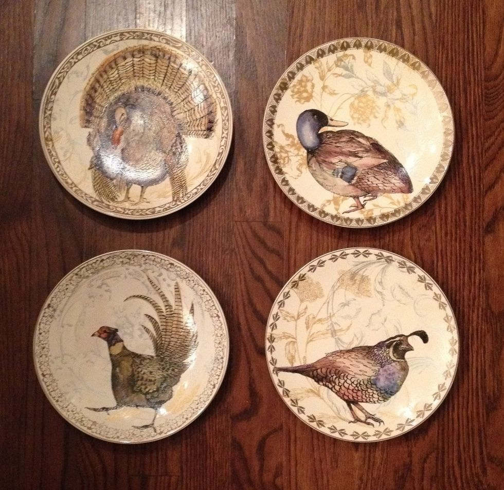 Details About Pottery Barn Set 4 Traditional Turkey Salad