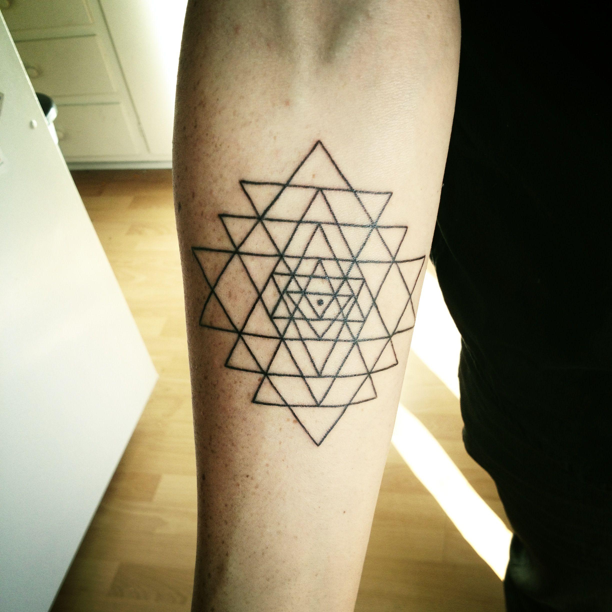 256cbf720 My Sri Yantra tattoo | Tattoos | Chakra tattoo, Yantra tattoo, Sri ...