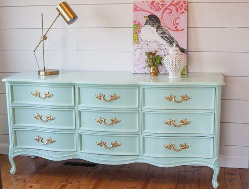 French provincial dresser in mint bedrooms painted - Painted french provincial bedroom furniture ...