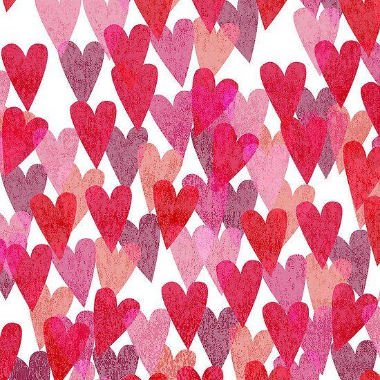 Valentine\'s Day Heart Pattern | Phone Background | Artwork: Hearts ...