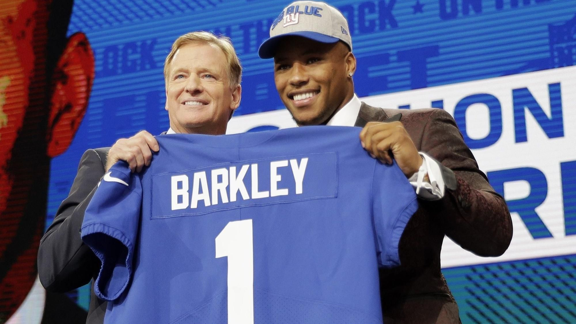 Saquon Barkley signed his fouryear rookie deal Sunday