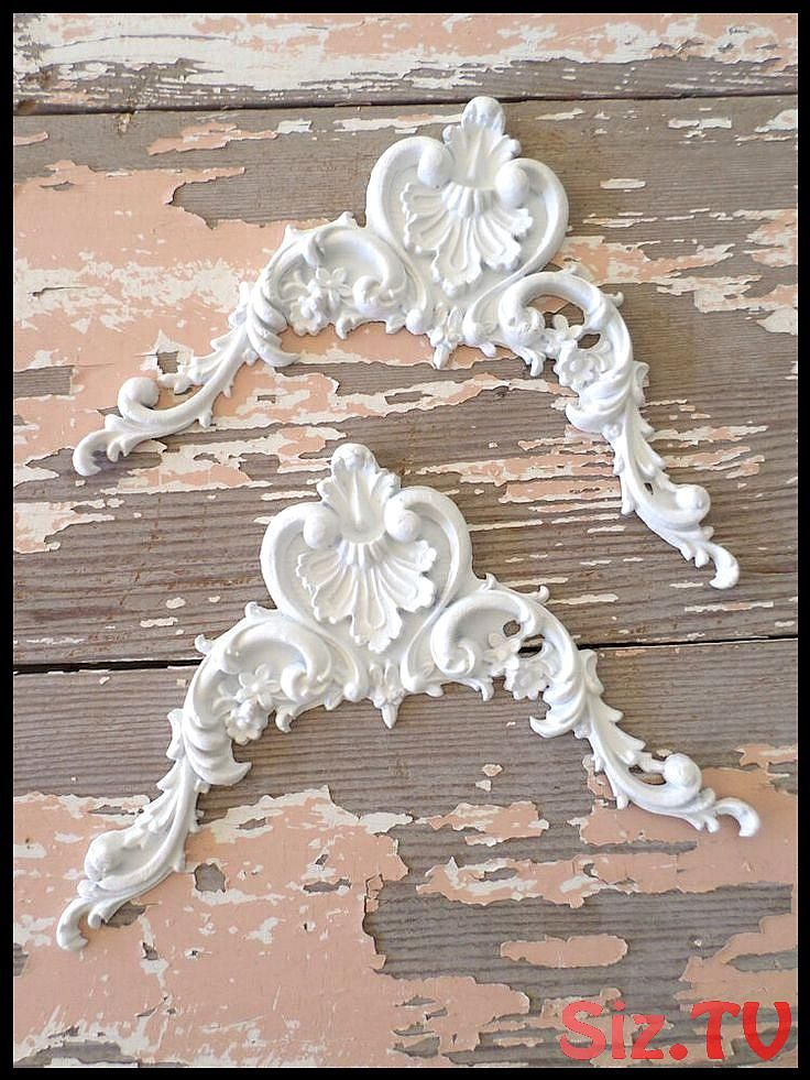 Details about SHABBY  038  CHIC FURNITURE APPLIQUES ONLAYS MOULDINGS ROSES EBAY  S LARGEST DEALER Details about SHABBY  038  CHIC FURNITURE APPLIQUES ONLAYS MOULDINGS ROSES EBAY  S LARGEST DEALER Save Images Over 500 appliques and decorative hardware to choose from  All of our appliques are easy to use   just glue on  Our appliques are flexible stainable and paintable  Our appliques are made of resin and woo