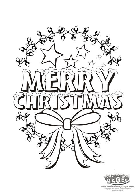 merry christmas christmas coloring pages - Merry Christmas Coloring Pictures