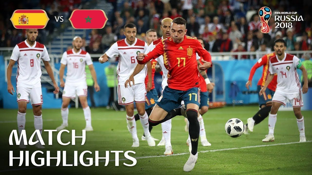 Spain V Morocco 2018 Fifa World Cup Russia Match 36 Fifa World Cup World Cup World Cup News