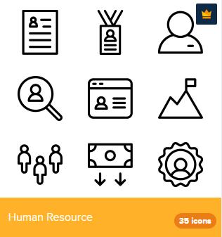 35 Premium Vector Icons Of Human Resource Designed By Deemakdaksina Human Resources Resources Icon Icon