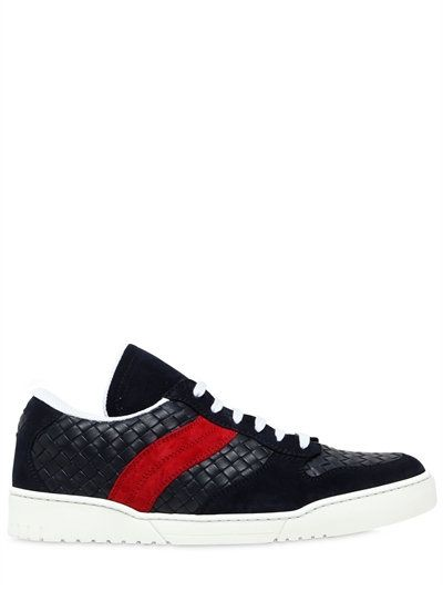clearance in China Bottega Veneta Leather Intrecciato Sneakers cheap top quality buy cheap footaction Q5DqgIOUk