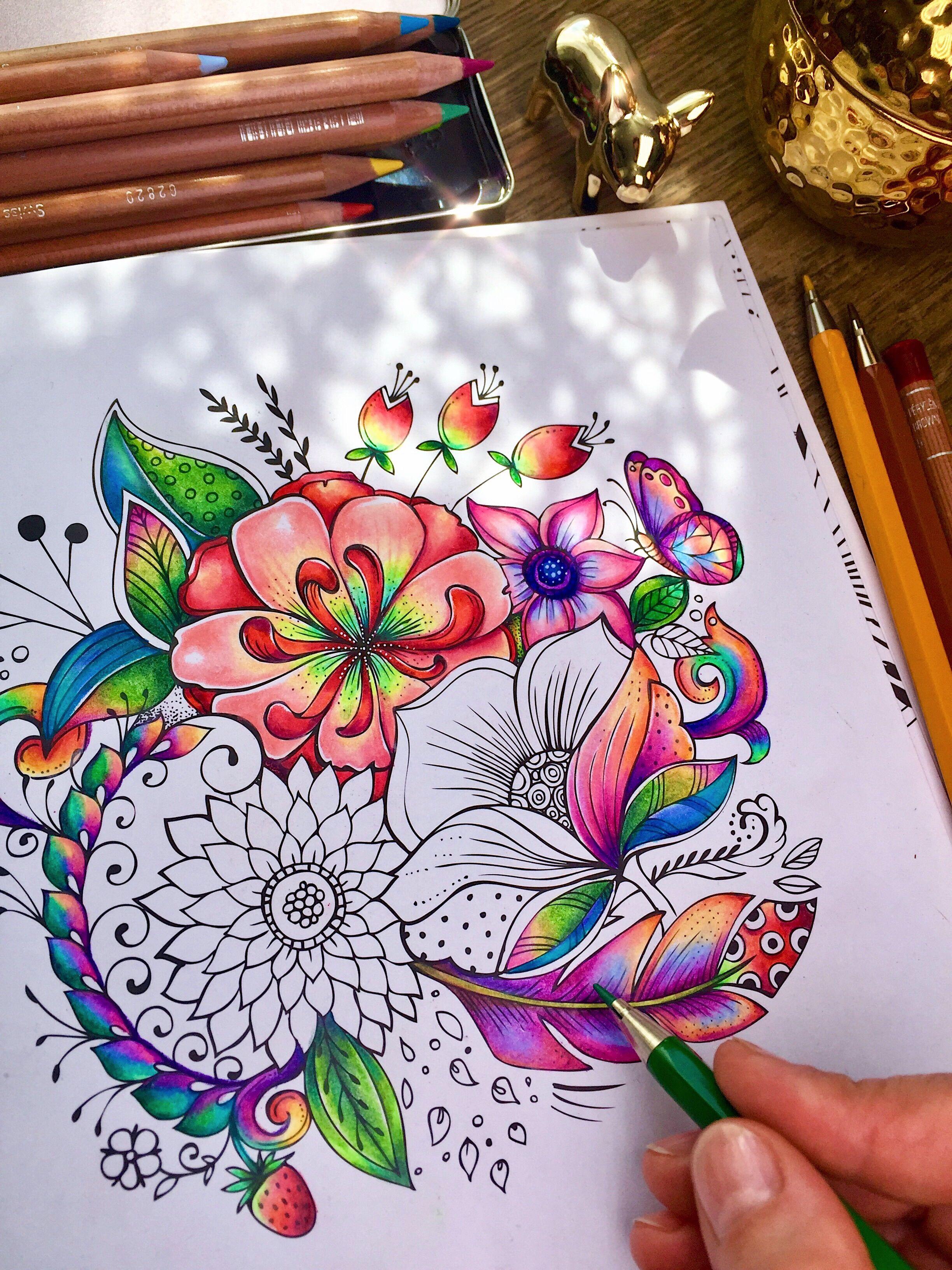 Coloringbook Author Rita Berman Coloring Book Art Coloring Books Color Pencil Art