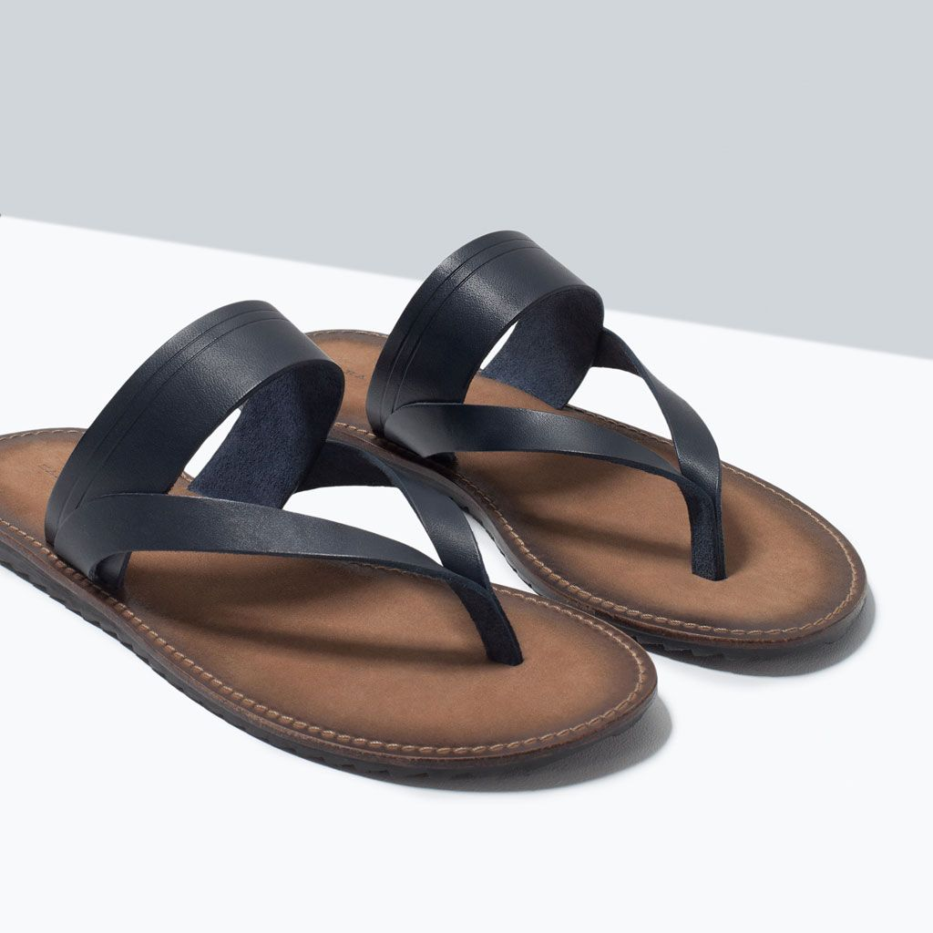 9a4cc6888012a3 Image 5 of LEATHER SANDAL from Zara
