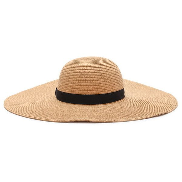 18becaba87d Forever 21 Women s Wide-Brim Floppy Straw Hat (197.165 IDR) ❤ liked ...