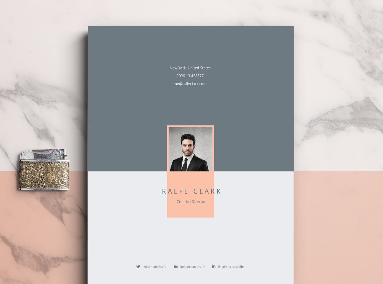 Best Resume Template Downloads - Graphic Pear | Portafolio ...