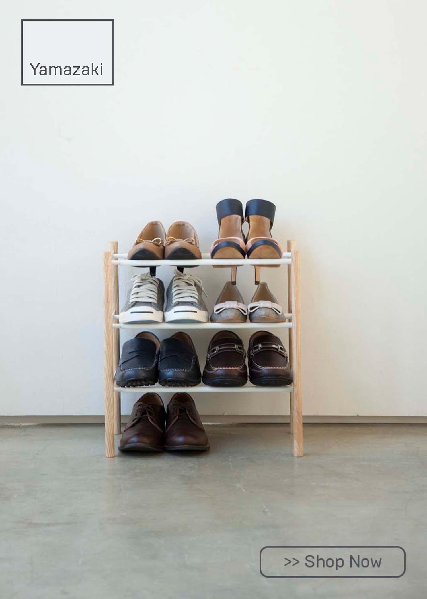 3 tier expandable shoe rack steel