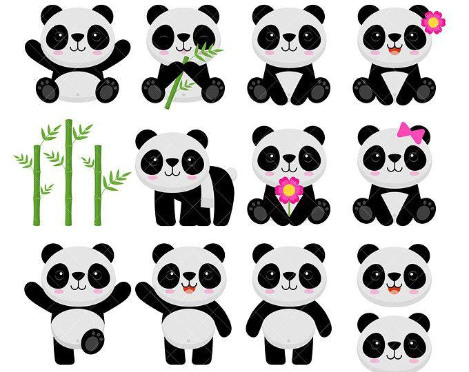 Little Panda Clipart Etsy Panda Birthday Party Panda Bear Panda Birthday