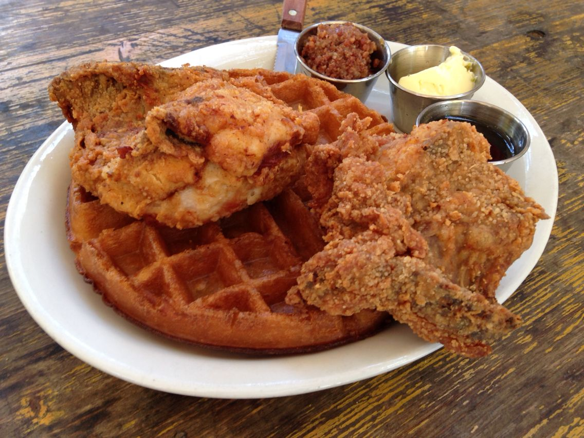 Lucy's - chicken and waffles