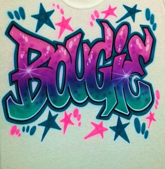 Airbrush t shirt graffiti style letters airbrush by - Graffitis en papel ...