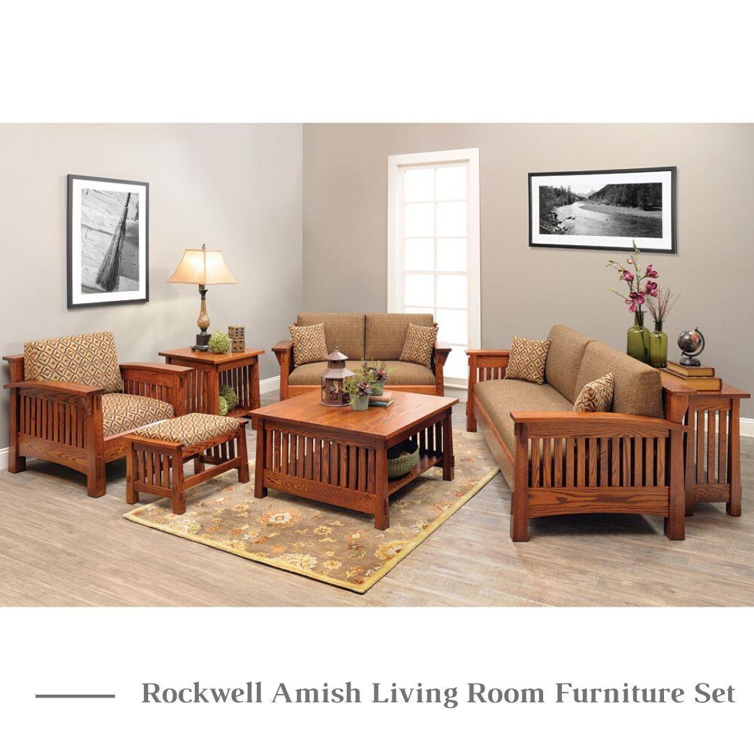 Rockwell Amish Living Room Furniture Set In 2020 Living Room Sets Furniture Living Room Sofa Set Rustic Living Room Furniture #rustic #living #room #furniture #set