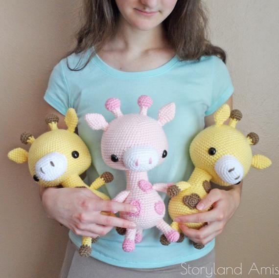 PATTERN: Cuddle-Sized Giraffe Amigurumi, Crocheted Giraffe Pattern, Giraffe Toy Tutorial, PDF Crochet Pattern #crochetgiraffepattern