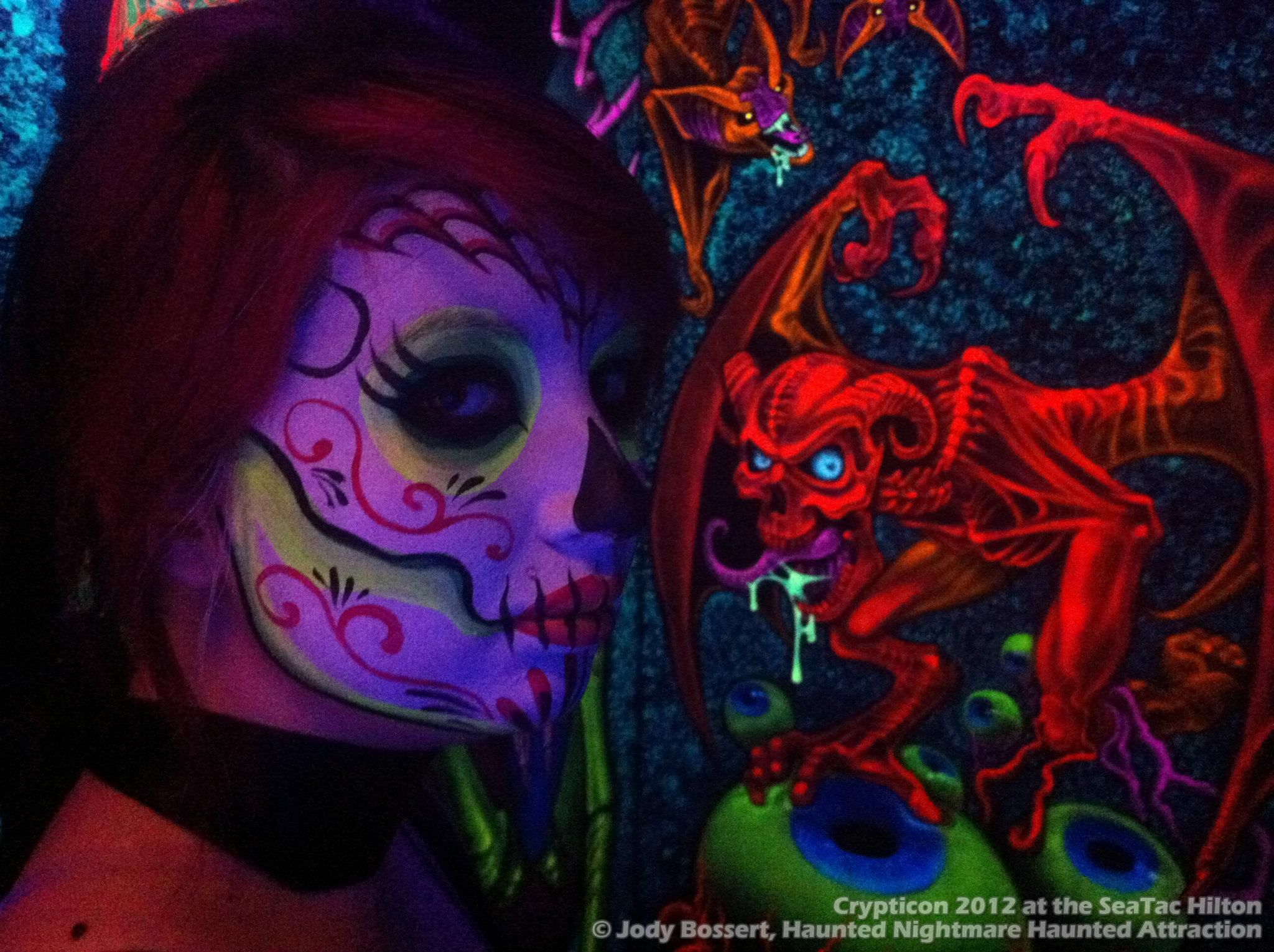 3D art and makeup by Dutch Bihary (Crypticon 2012 at the