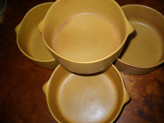 Set of 4 Vintage Bennington Potters Soup Bowls Tawney David Gil -Yusuke Aida 1961-1964