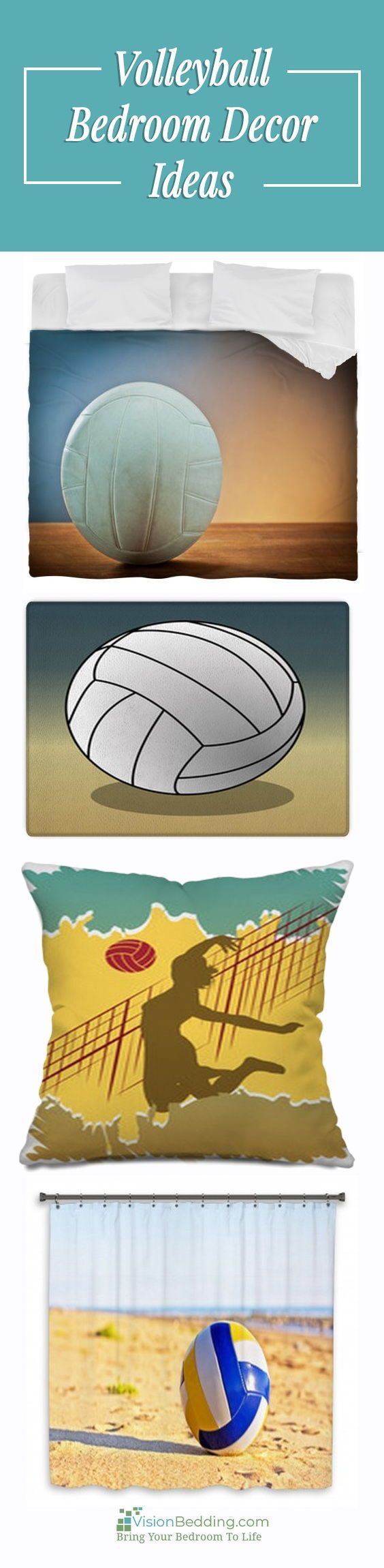 Volleyball Decorating Ideas Cool Volleyball Themed Bedroom