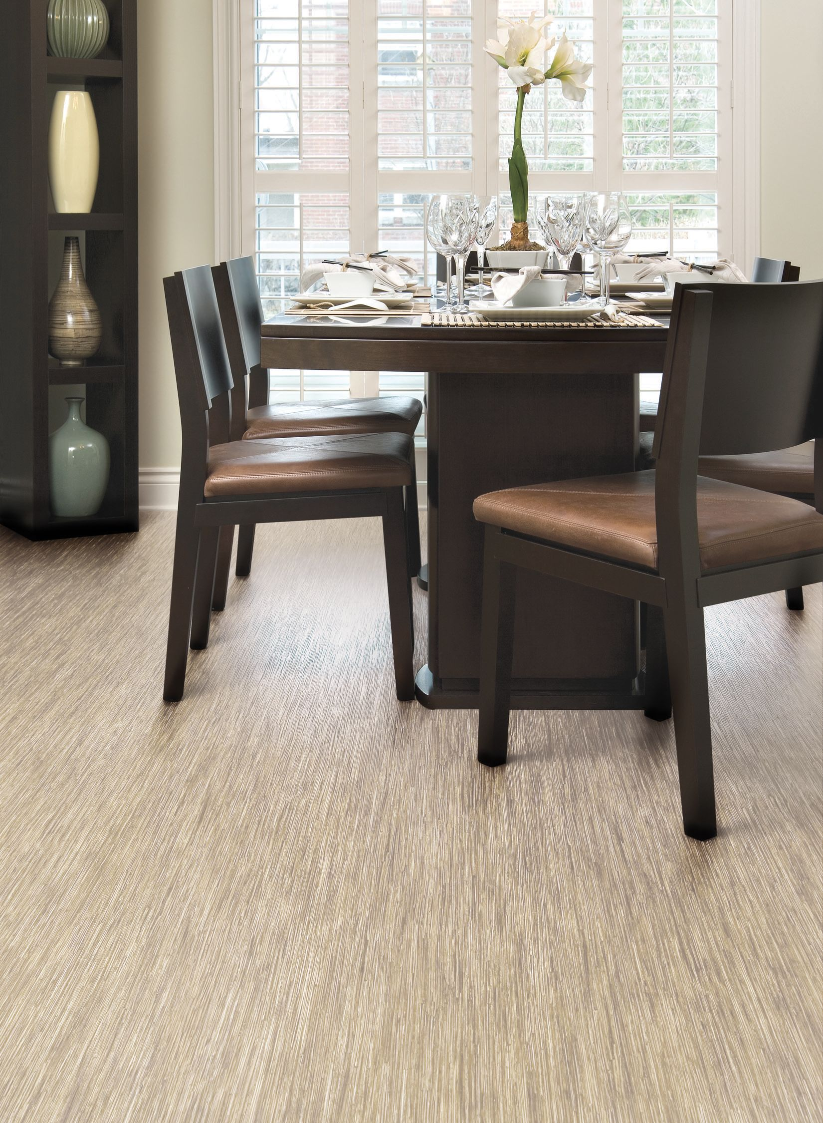 Love this room style and the Linen Seagrass Sheet Vinyl