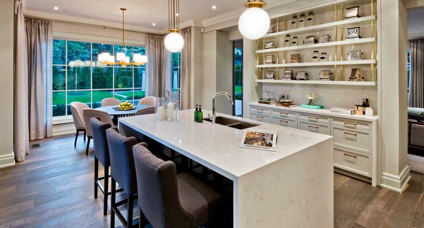 Princess Margaret Lottery Home   Amazing Kitchen   Gold And White