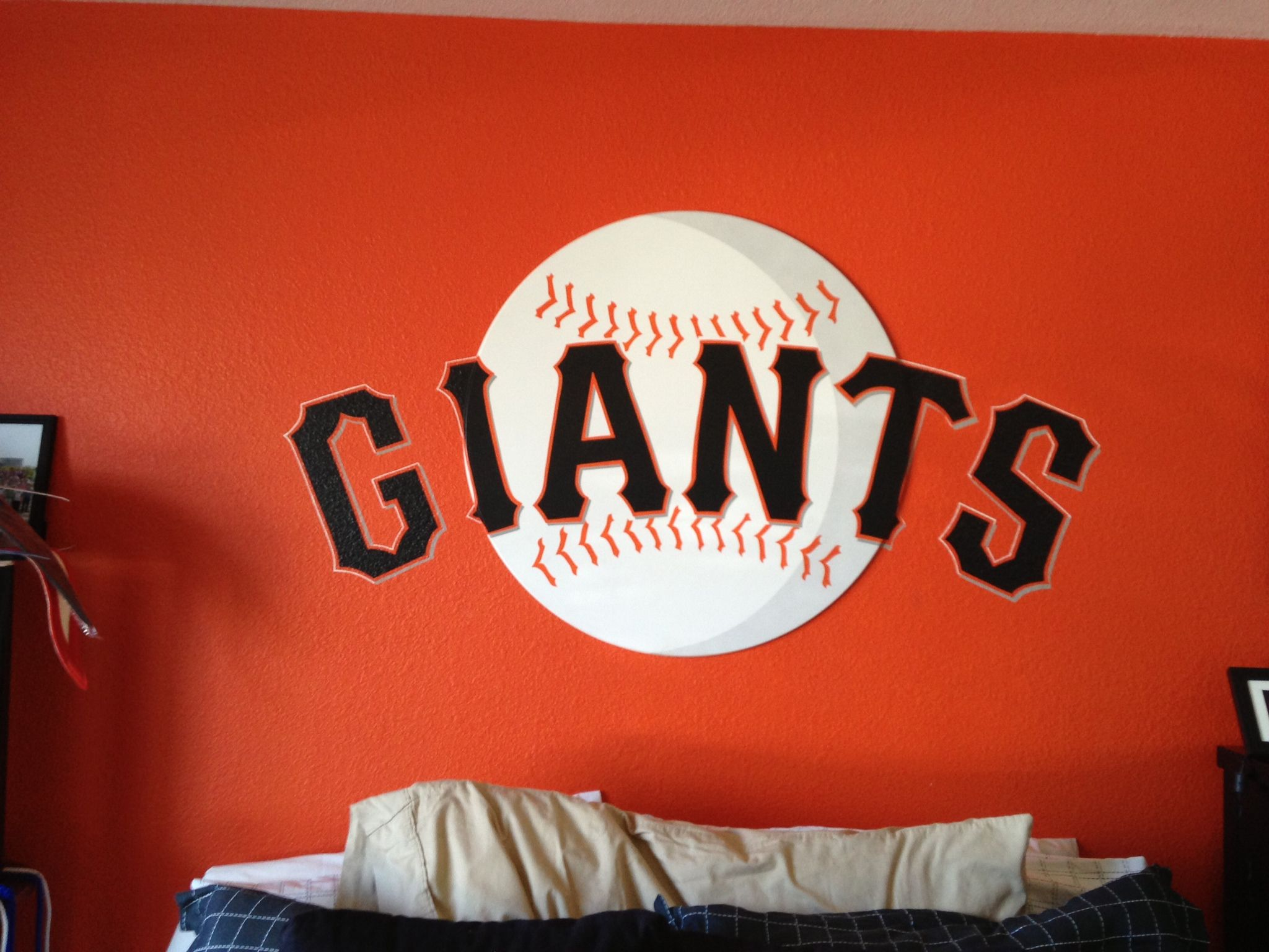 Sf Giants Logo Wall Decoration Made With A Inexpensive Plastic