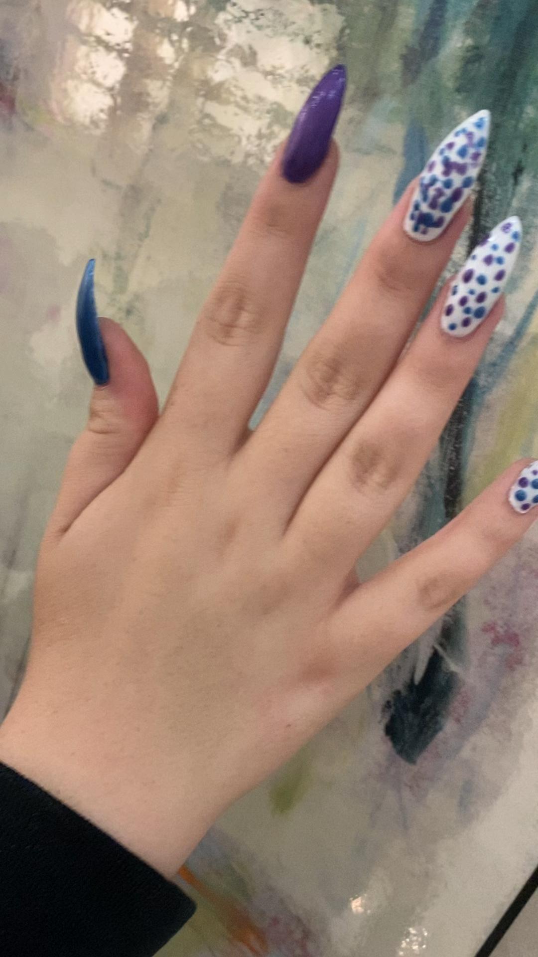 #colourful #nailsofinstagram #stilettonails #edmontonnails #edmonton