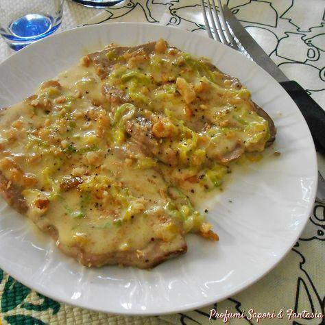 Photo of Capocollo di maiale in salsa con noci e porri secondo di car…
