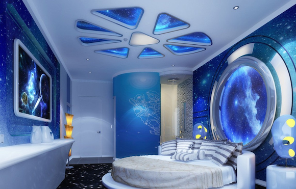 Futuristic Boys Room Space Themed Bedroom Space Themed Room Outer Space Bedroom