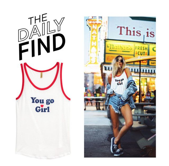 """""""Daily Find: H&M Tank Top"""" by polyvore-editorial ❤ liked on Polyvore featuring DailyFind"""