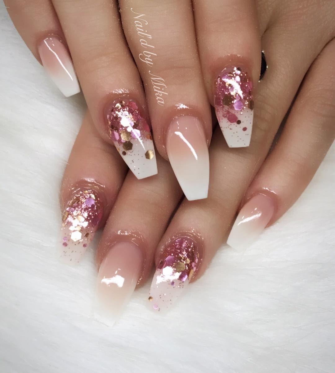 Ombré Glitter Naild By Mika Contact Via Facebook