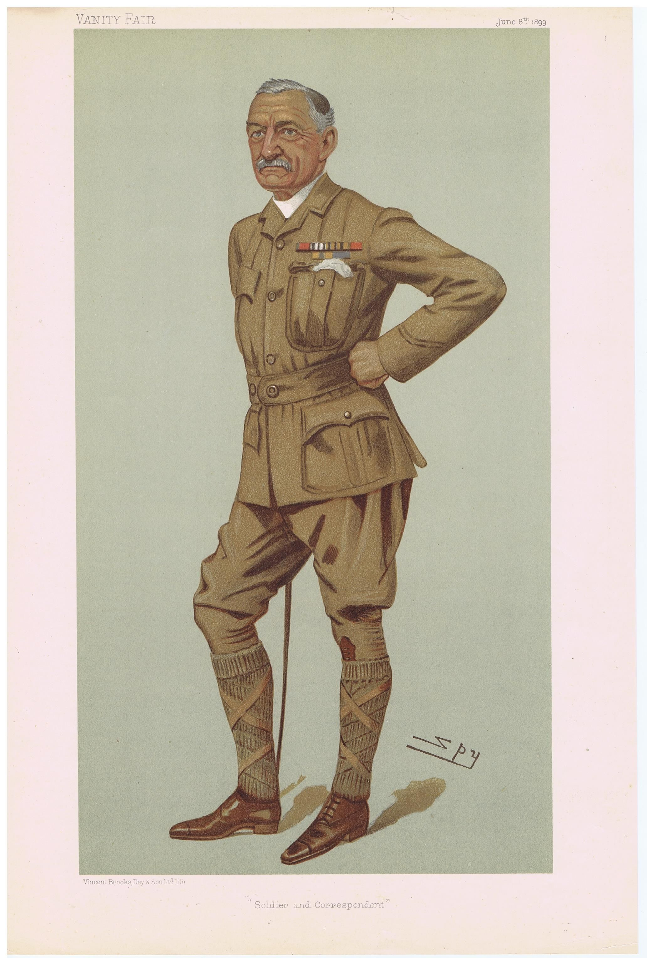Date 08 Jun 1899 The Vanity Fair Caricature Of Col Francis William Rhodes With The