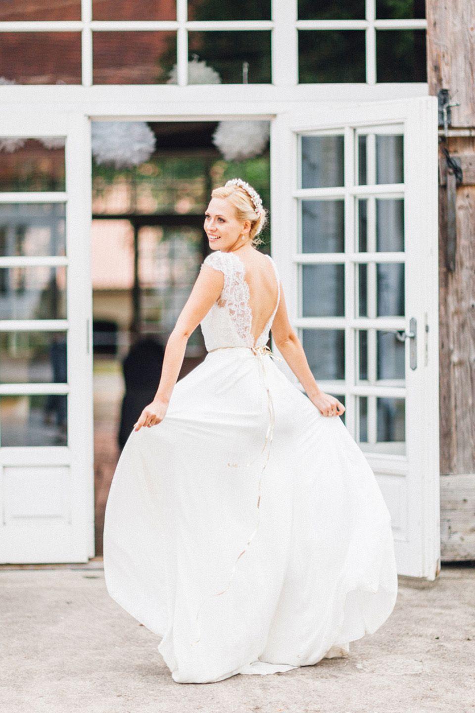 Verspielte Vintage-Hochzeitsinspiration in Rosa und Gold ...