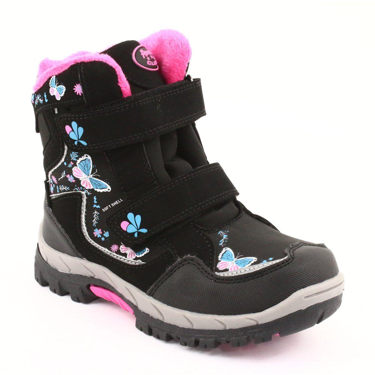 American Club Kozaki Z Membrana Hl27 Motyle Czarne Niebieskie Rozowe Boots Childrens Boots Winter Shoes