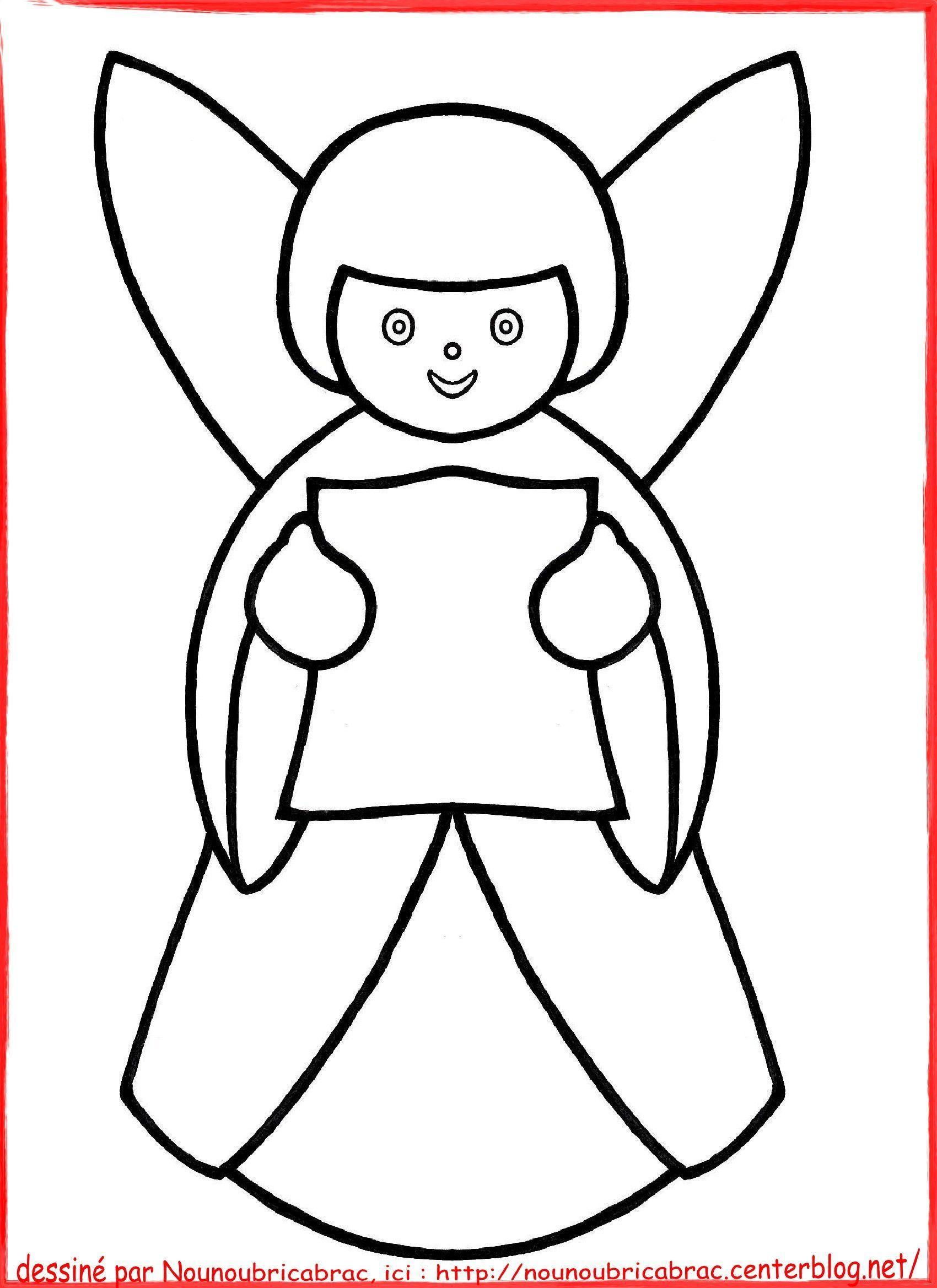 Idee De Dessin De Noel Facile : ange de no l colorier dessins faciles noel ~ Pogadajmy.info Styles, Décorations et Voitures