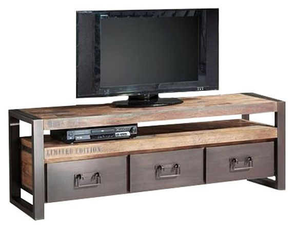 MEUBLE TV 3 TIROIRS  Meuble TV avec 3 tiroirs, fait avec du - Meuble Tv Avec Rangement