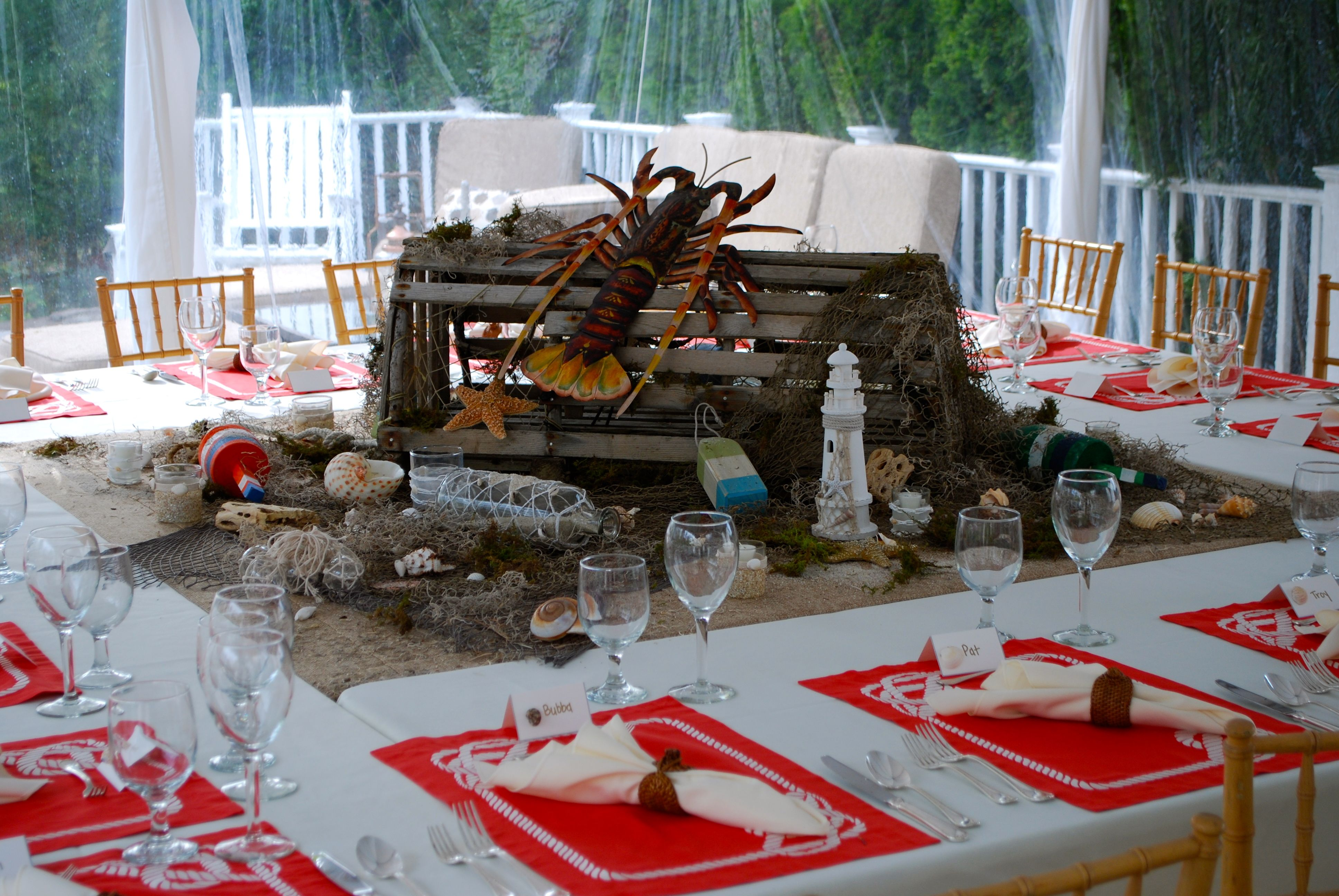 Centerpiece For Lobster Dinner Party