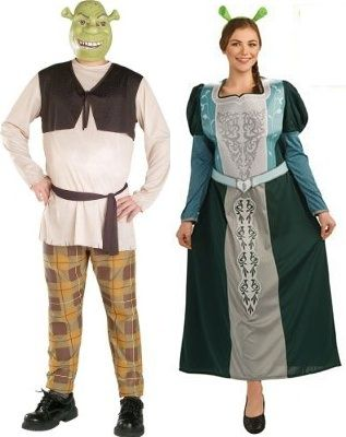 shrek and fiona love this modest costume for couples the uglycute shrek - Modest Womens Halloween Costumes